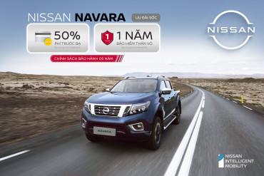 Nissan Việt Nam ưu đãi 50% phí trước bạ hoặc 01 năm bảo hiểm thân vỏ cho khách hàng mua xe Navara đến hết 30/4