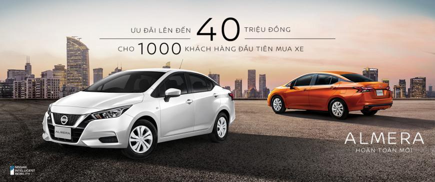Nissan Việt Nam áp dụng chính sách ưu đãi đặt hàng sớm cho Nissan Almera hoàn toàn mới